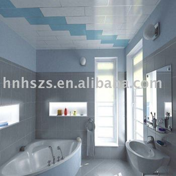 PVC decorative ceiling panel in Bathroom