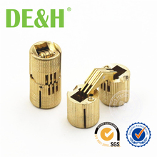 14mm Brass Cylindrical Barrel Invisible Hinge For Furniture