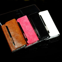Stocks in CA,USA Purse /Handbag Leather Case Cover For iPhone6 Plus 5.5 Screen With Credit Holder 4 Colors