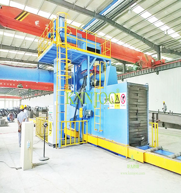 Large Steel Structure Roller Conveyor Through Type Shot Blasting Machine Used