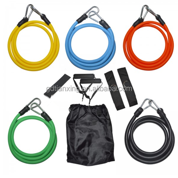 Smart Custom Yoga Trainer Latex of 11 pcs Resistance Tubes Set