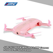 JJRC H37 ELFIE Mini Pocket Selfie Drone Wifi Control Foldable FPV RC Quadcopter with 2.0MP Camera RTF Helicopter Pink RM7680