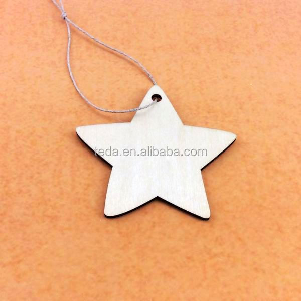hot Laser Cut Star Collection Wood Shapes DIY Wood Veneer Pieces Wood Crafts for Scrapbook Decoration