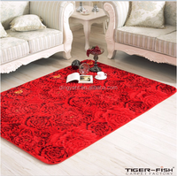 China wholesale Polyester chenille yarn Carpet rug for living room modern rugs