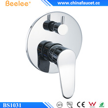Beelee BS1031 Round Concealed 2-Way Manual Bathroom Shower Mixer Valve Control with Diverter