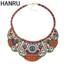 2017 fashion Handmade Jewelry African Fabric Fake Collar Necklace