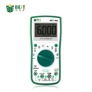 BEST 58X Automatic range Digital Multimeter 6000 counts Backlight AC/DC Ammeter Voltmeter Ohm Portable Meter voltage meter