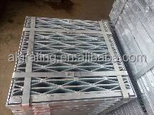 galvanized diamond shaped drain grating cover
