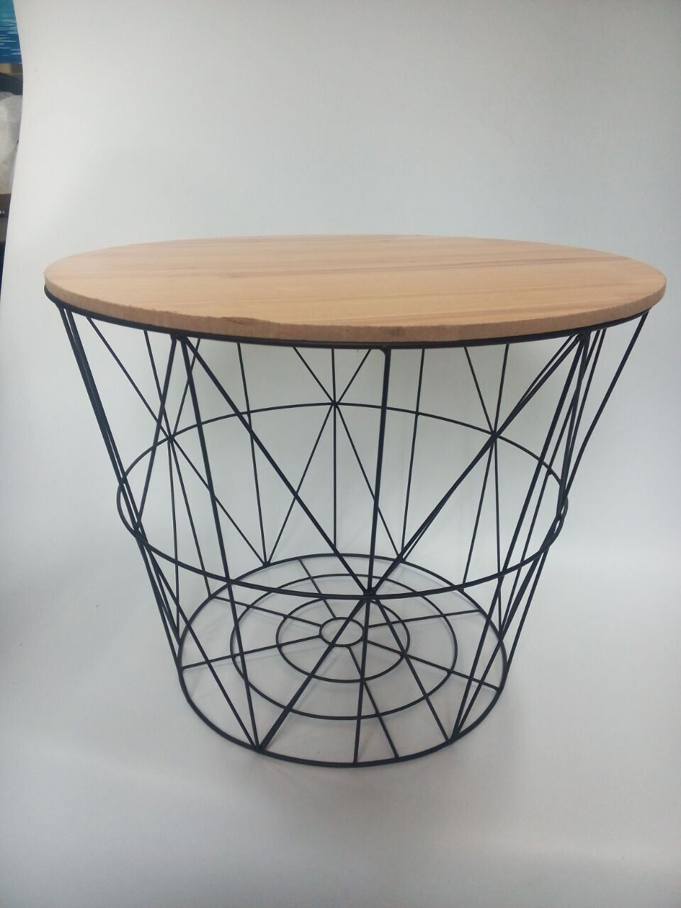 Jn coating metal wire basket with lid coffee table buy baskets with wood lids decorative wire Coffee table baskets