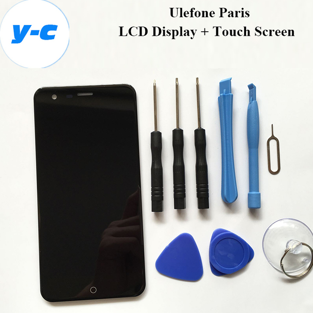 Ulefone Paris LCD+Touch Screen 100% Original Display Digitizer Glass Panel Assembly For Ulefone paris 1280x720 HD 5.0inch Phone