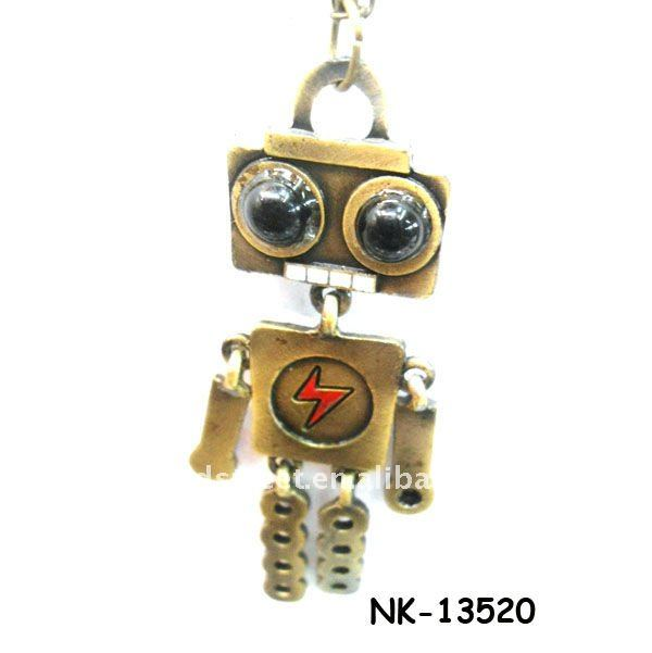 robot pendant necklace