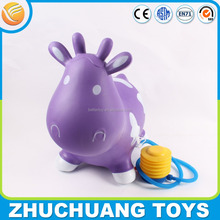 pvc milk cow jumping toy inflatable animal