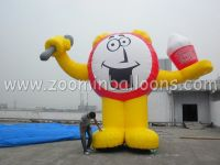 Hot-selling PVC inflatable advertising cartoon cold air balloon for sale N2109