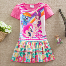 Fashion print girls cotton frock designs baby Vestido