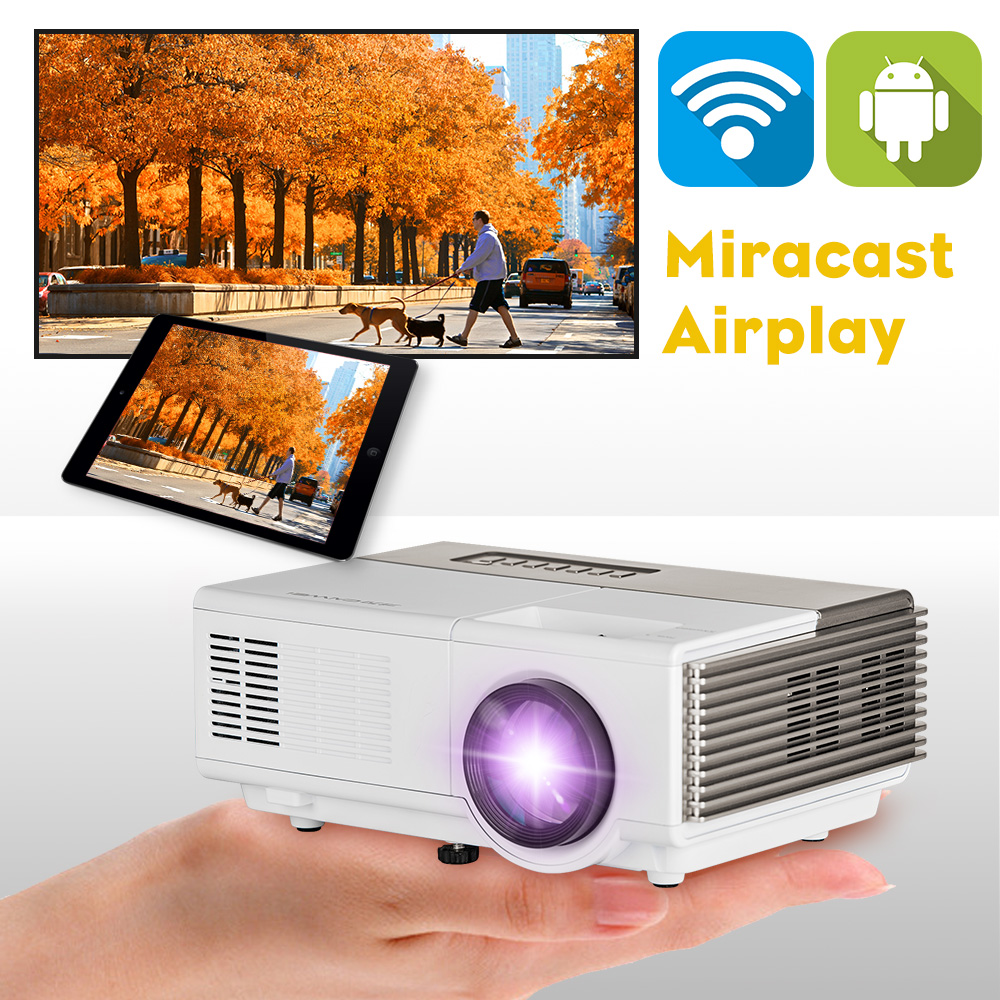 cheap mini video projector for android iphone wirelessly