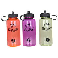 High quality food grade 1000ML customized plastic sport water bottle plastic
