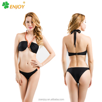 2015 xxx hot sex latest fashion removing plus black string bikini