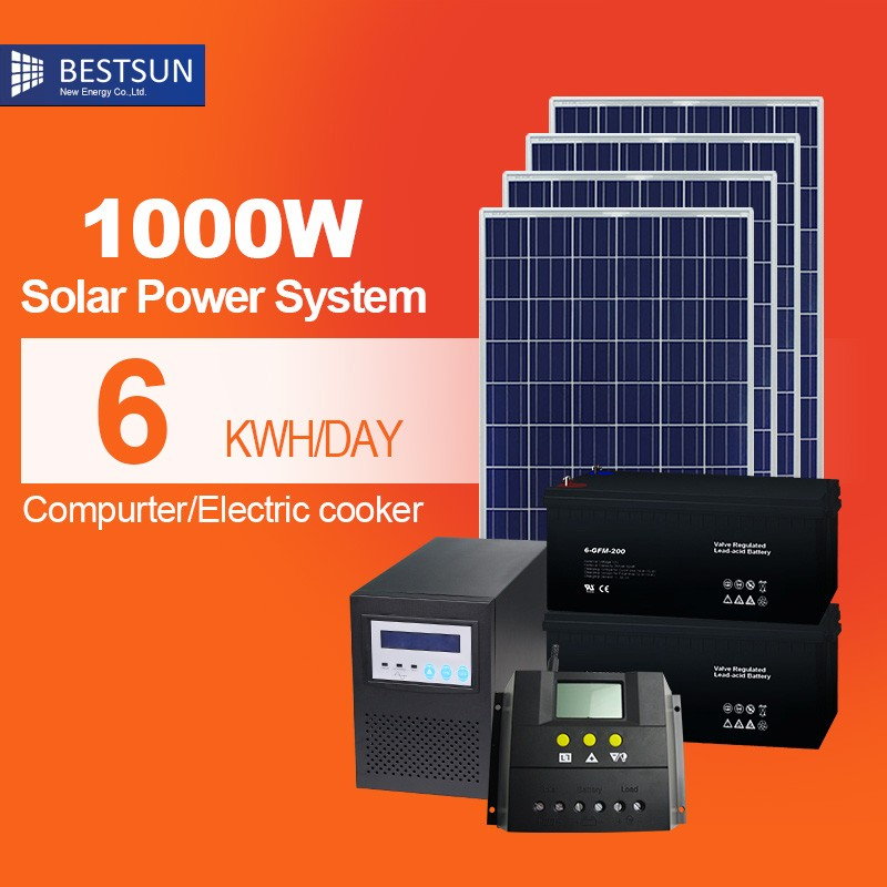Green energy DC 1000w Portable home use solarsystem