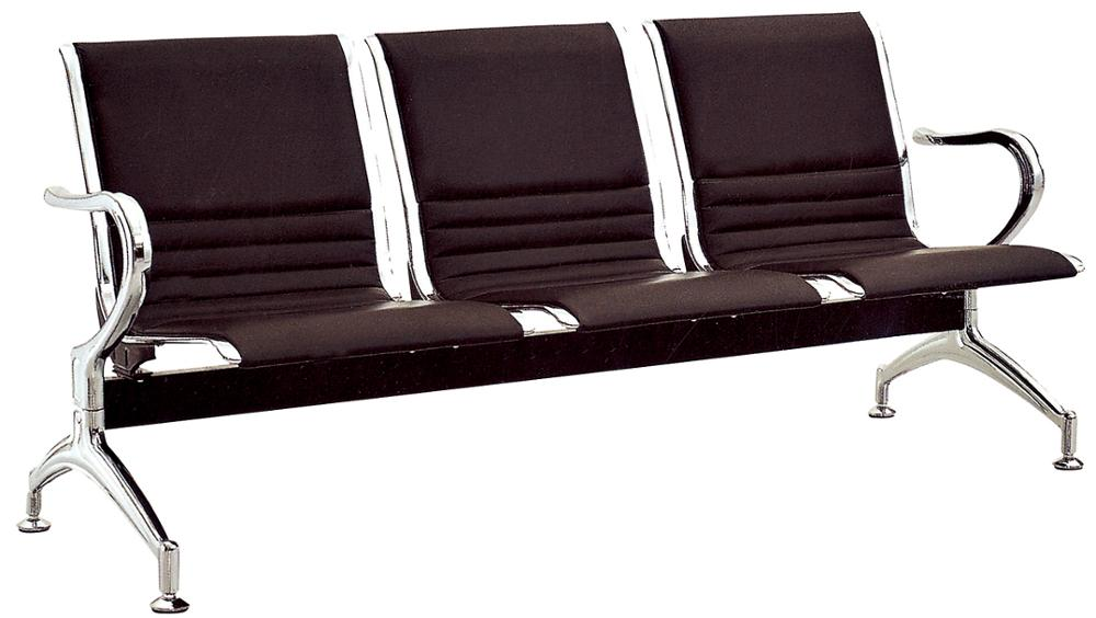OC-141 Comfortable PP Public Use 3-seater Waiting Chairs Airport Bank Waiting Chairs For Sale
