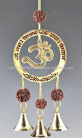 brass bell wind chime with OM