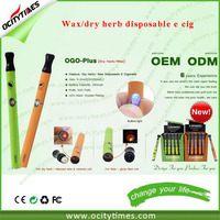 Free OEM for disposable wax vaporizer pen/dry herb e cigarette/dry herb wax cigarette e cig disposable