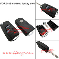 New design Ni-ssan car 3+1 button remote control car key fob case shell cover with flip key blade
