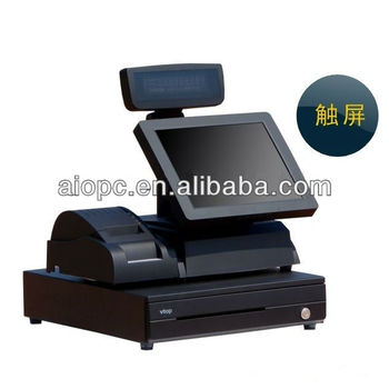 15 Inch LED Touch Screen All in One Cash Register POS Systems