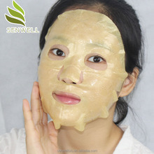 2017 New skin care anti wrinkle Collagen 24K gold Lace face mask