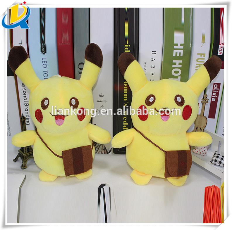 9 inch hot selling soft toy yellow pokemon go pikachu