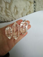 Shipping on time 50-100g natural quartz Transparent Vogel Crystal Healling double Points