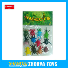 Zhorya mini animal toys plastic insects beetle figure toy children animal toy with PVC bag packing