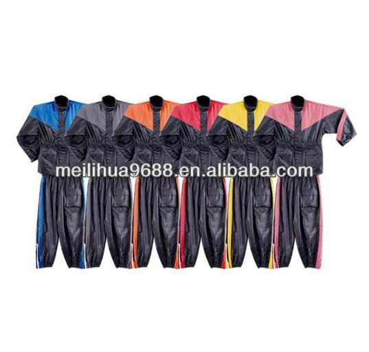 Motorcycle Rain Gear Two Piece Motorcycle Polyester Rain Suit