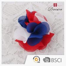 New Oem Production Colorful Rose Flower Hair Bow Clip