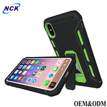 Custom logo full protective safety armor shockproof rugged TPU PC hybrid mobile phone case for iPhone 8 cover