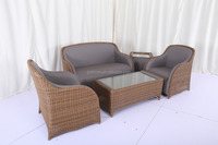 Hot selling outdoor furniture leather rattan sofa set