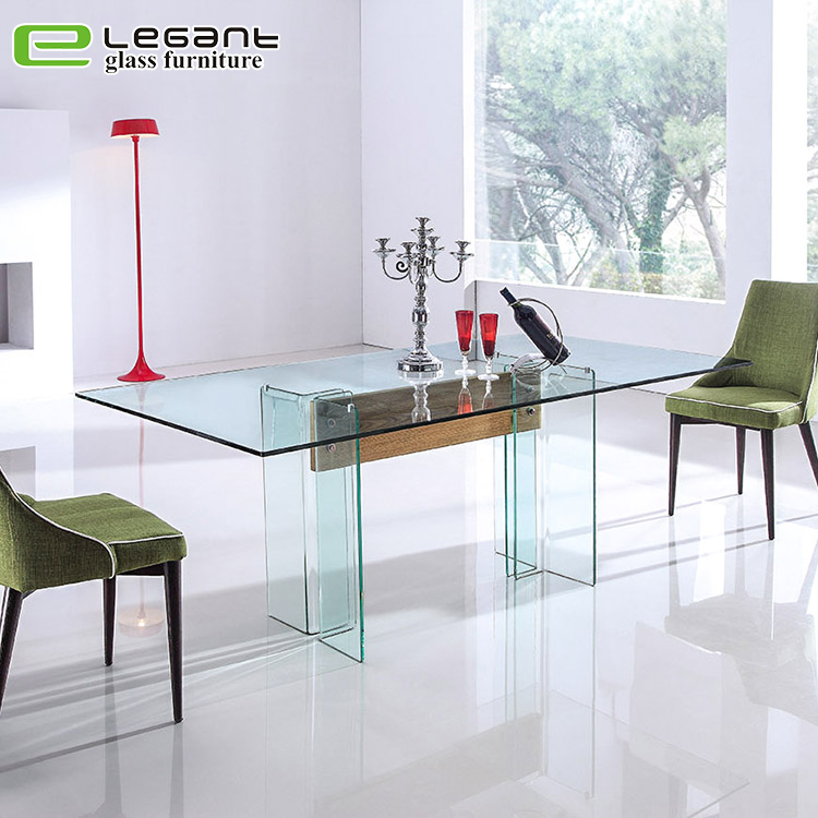 Tempered Glass Dining Table with Strong Base