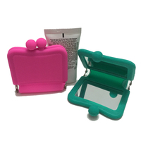 Square Shape Promotional Makeup Cosmetic Mirror Double Sides Folding Portable Compact Pocket Hand Mirrors