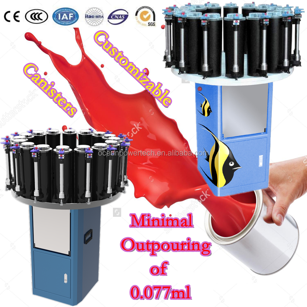 Manual color mixing machine / colorant dispenser / pigment paste mixer for industrial item