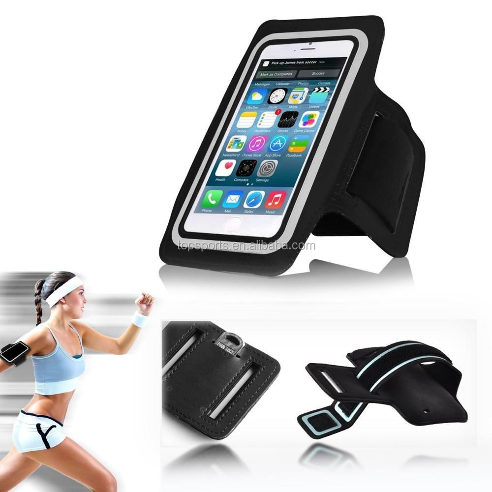 Hot selling magnet armband cellphones leather Case for apple iphone 6/ plus Sports Armband Case