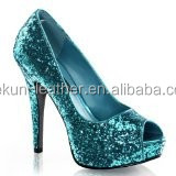 Hot sale chunky glitter pu leather for shoe, cheap glitter wallpaper