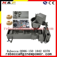 hot Stainless steel 304 automatic mini donut machine ,gas donut machine