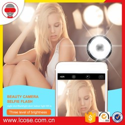 2016 lcose facrory products RK11 LED Selfie ring light for smartphone and girls