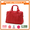 BSCI SEDEX Pillar 4 really factory simple Red Polyester ladies travel bags