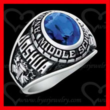 cheap high quality stainless steel/silver class ring custom graduation ring school ring