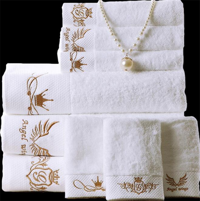 100% <strong>Cotton</strong> 5 Star Hotel Luxury 16s Bath Towel Sets / towels bath set luxury hotel