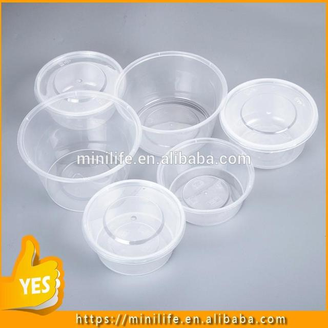 2017 New Kind food grade salad bowl, 100ml-3000ml 1 compartment disposable casserole containers