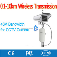 Manufacture Long Range 0.1-10KM Wireless CCTV Video Surveillance Transmission for ip Camera