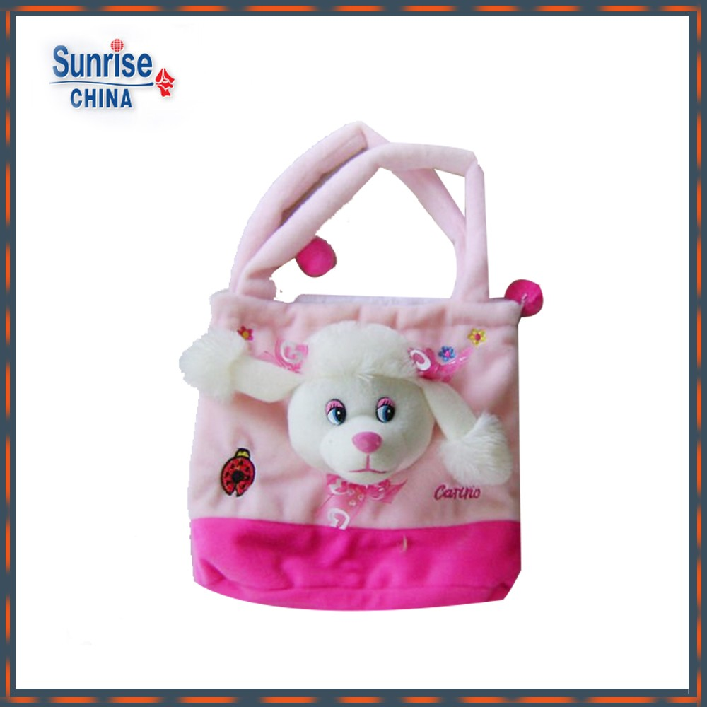 High quality cute and cheap customized soft plush animals children backpack toy for children
