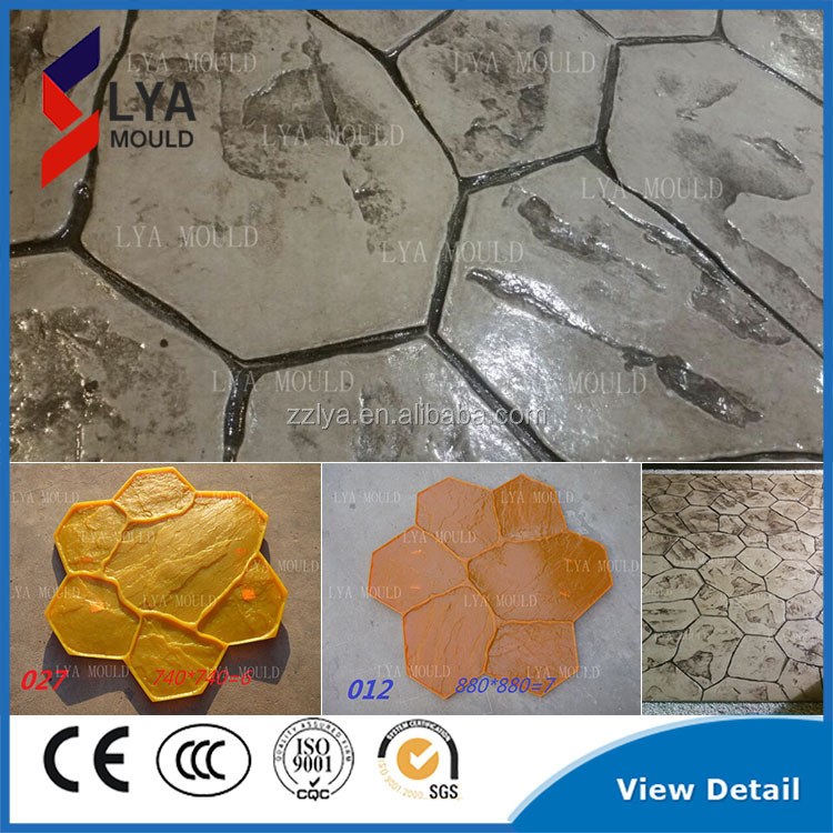 Stamped Rubber Flooring : New random stone decorative concrete stamps buy stamped