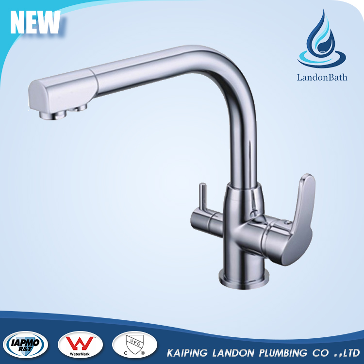 Water saving deck-mounted kitchen 3 funtion drinking mixer faucet